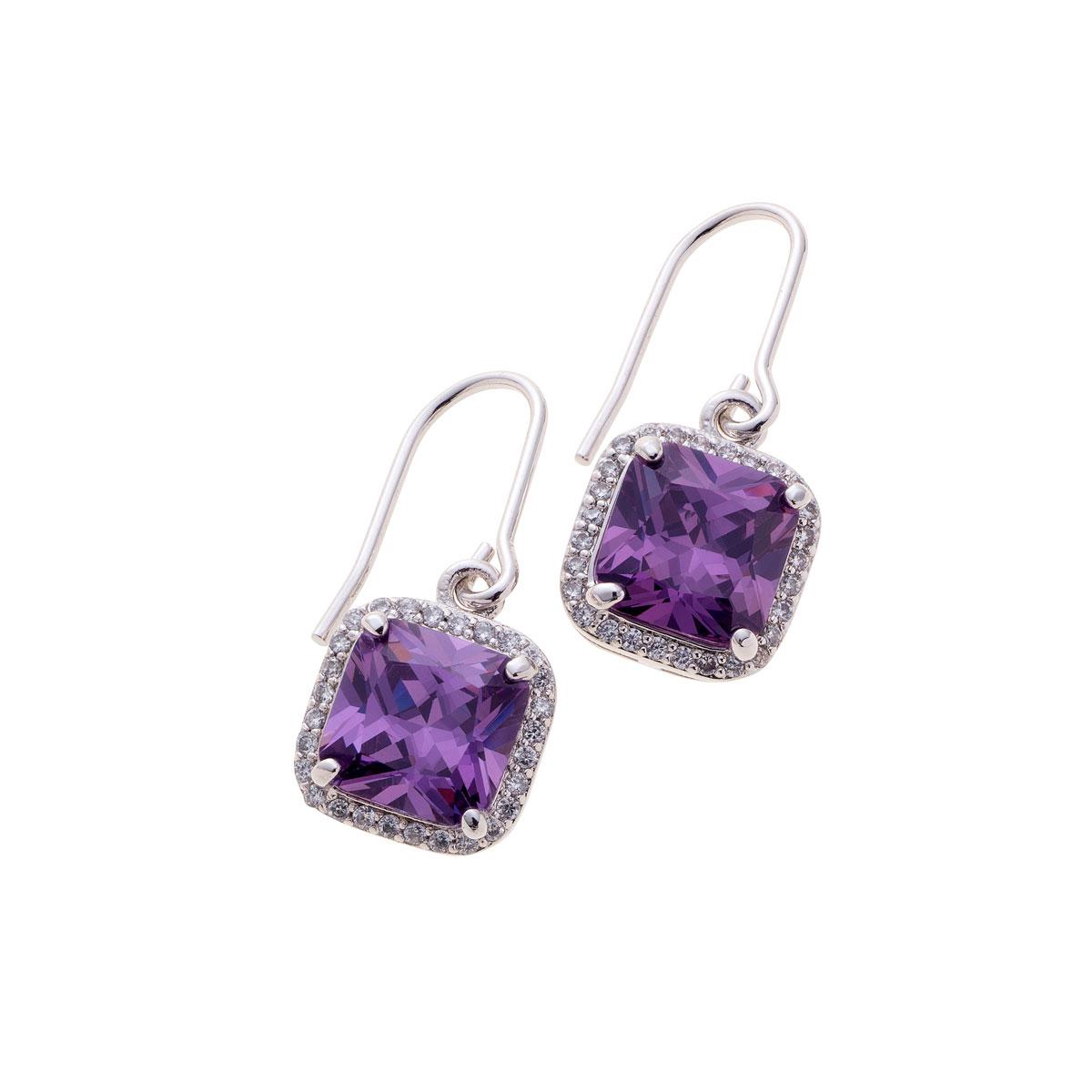 Belleek Living Jewelry Amethyst Earrings, Pair