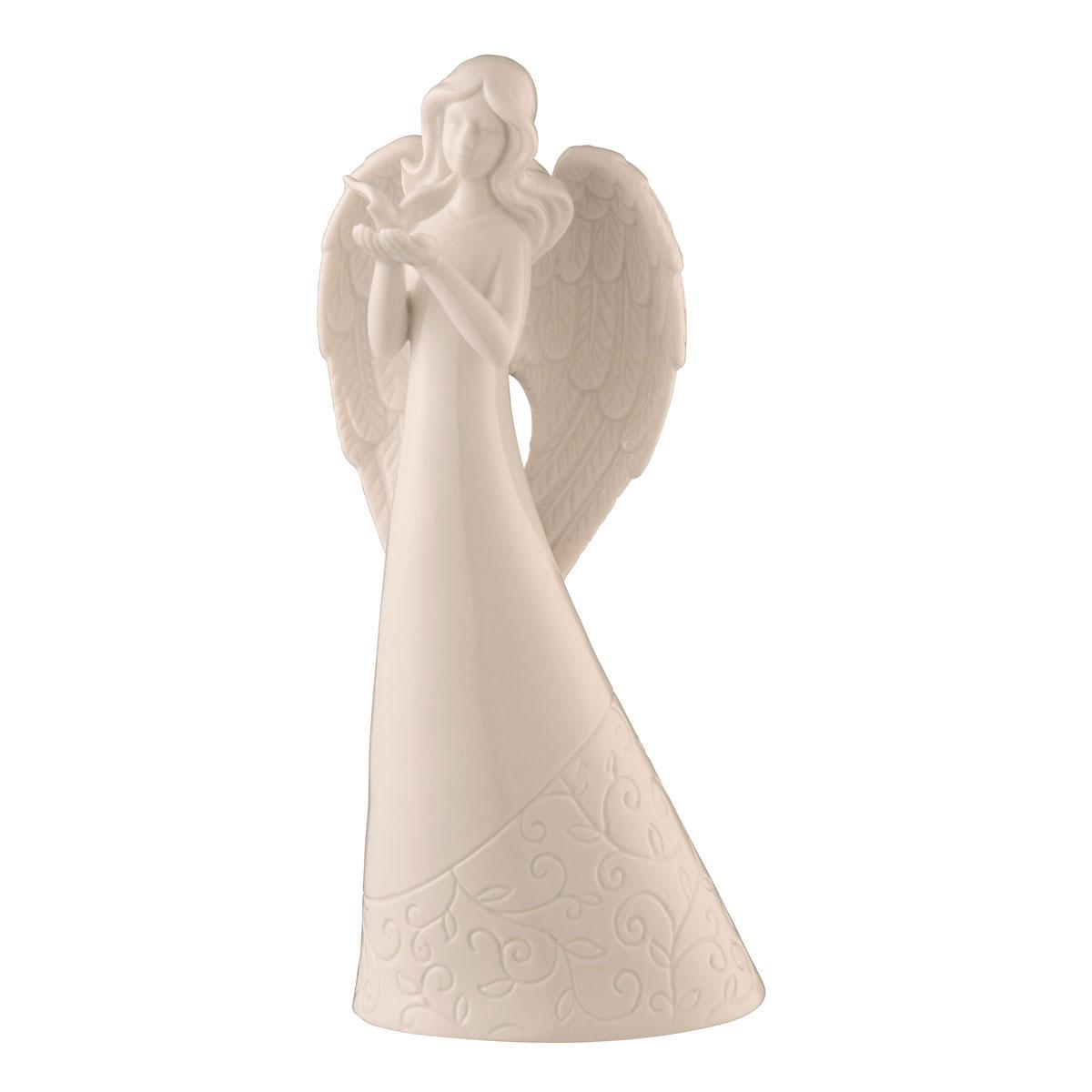 Belleek Living Angel with Dove