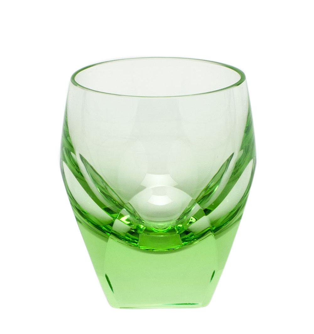 Moser Crystal Bar Shot Glass 1.5 Oz. Ocean Green