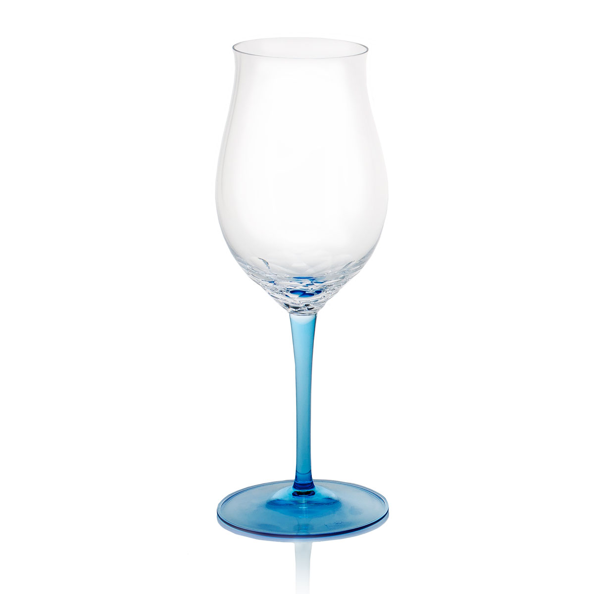 Moser Butterfly Pebble Red Wine Clear Aquamarine, Single