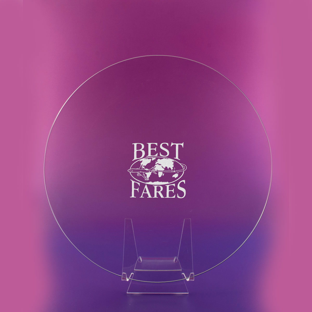 """Crystal Blanc, Personalize! 10"""" Award Plate"""