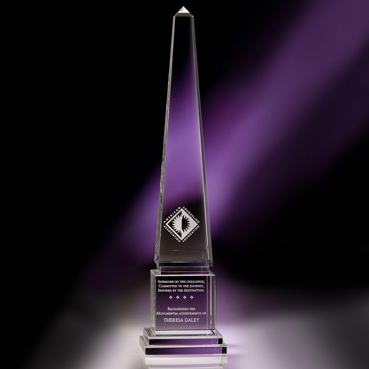 """Crystal Blanc, Personalize! Optic Athena Obelisk 16"""""""