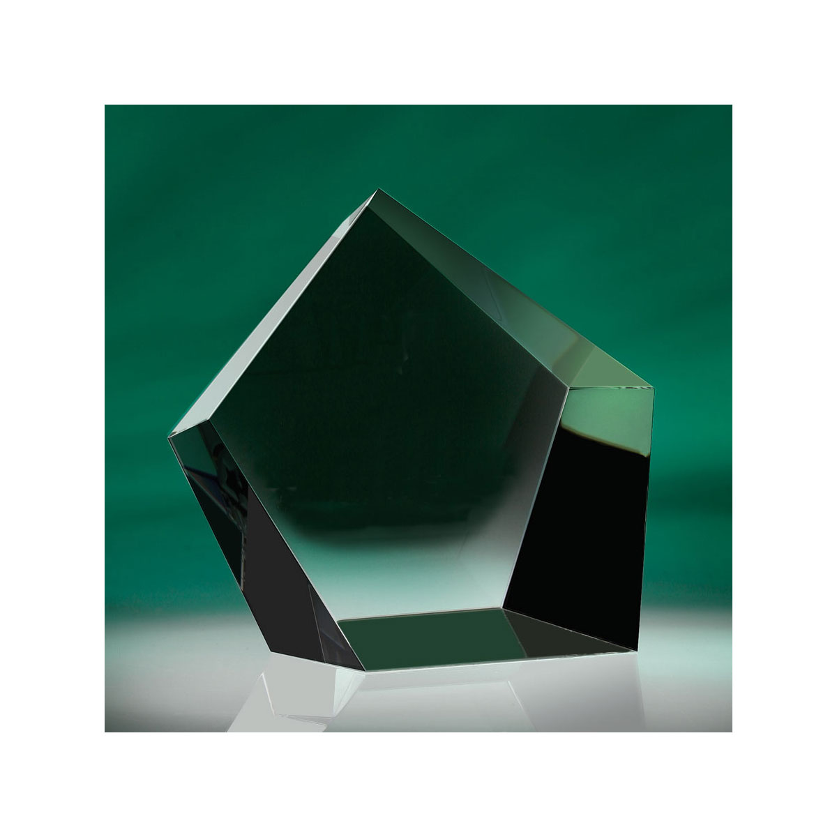 """Crystal Blanc, Personalize! Optic Pentangle Crystal Paperweight 3 1/2"""""""