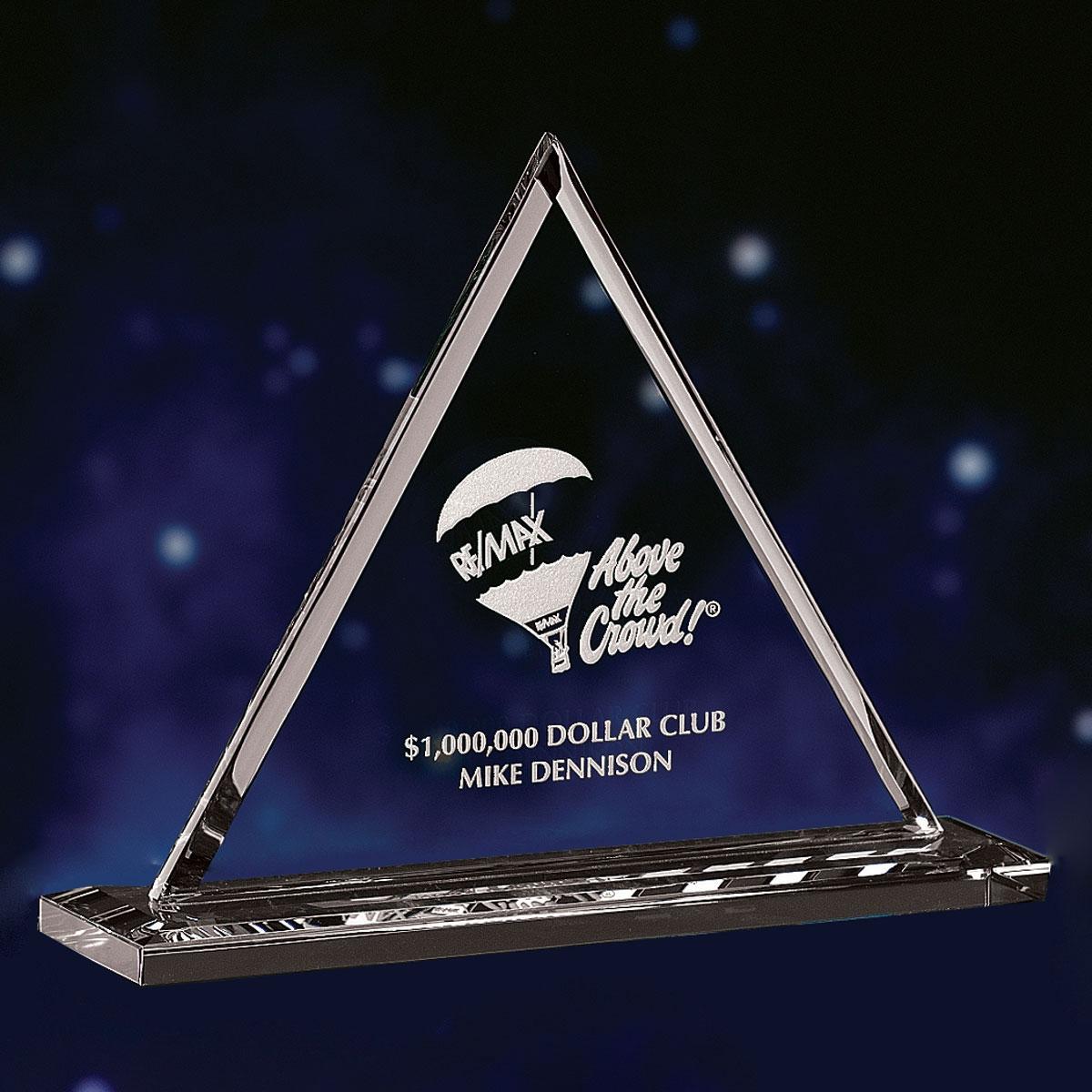 "Crystal Blanc, Personalize! 7"" Pyramid Award"