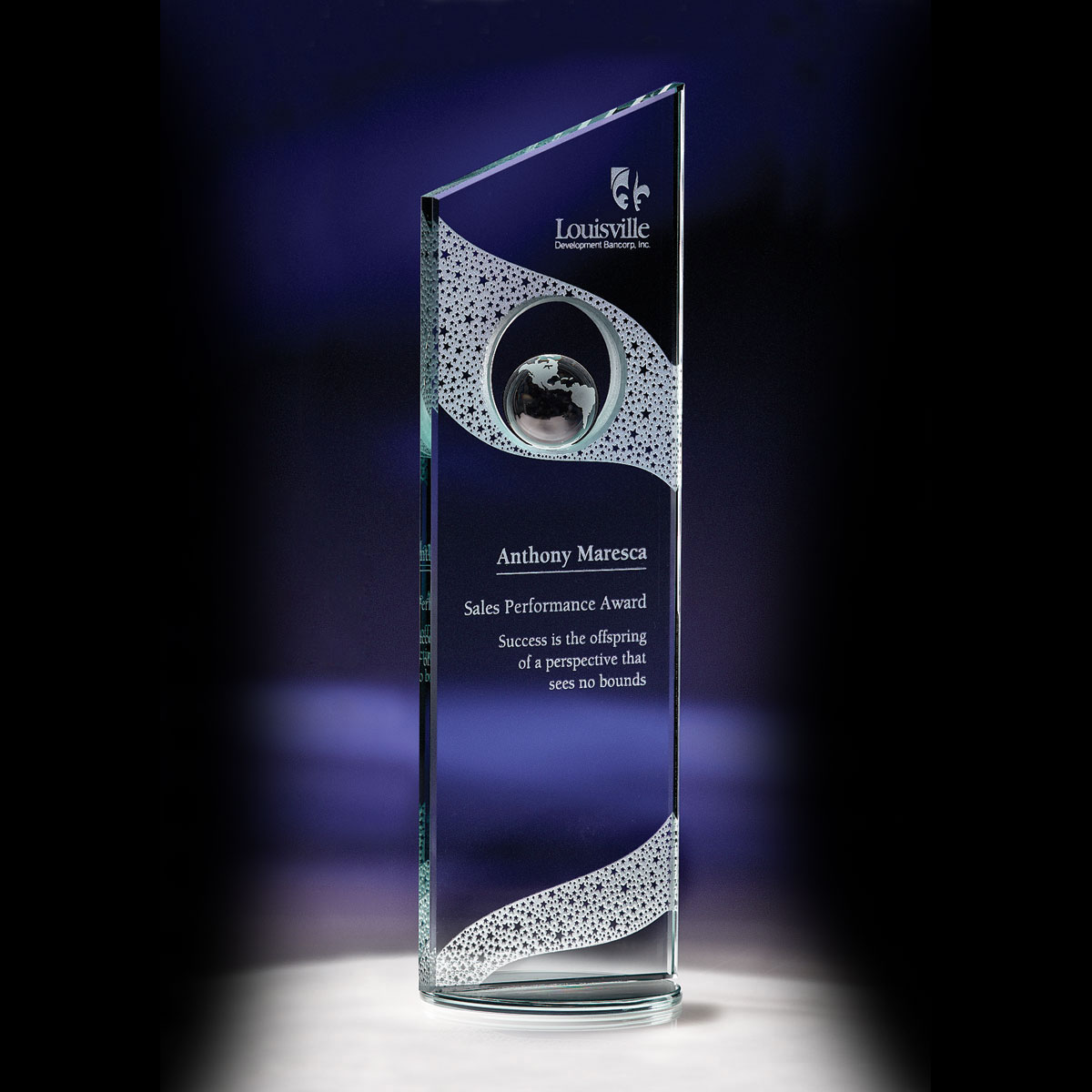 Crystal Blanc, Personalize! Perspective Award, Small