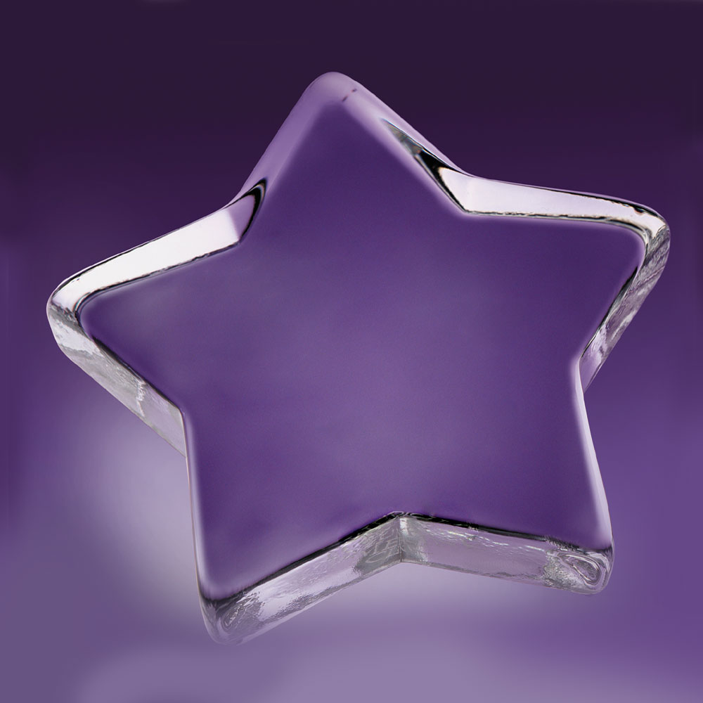 Crystal Blanc, Personalize! Star Crystal Paperweight 4 1/2""