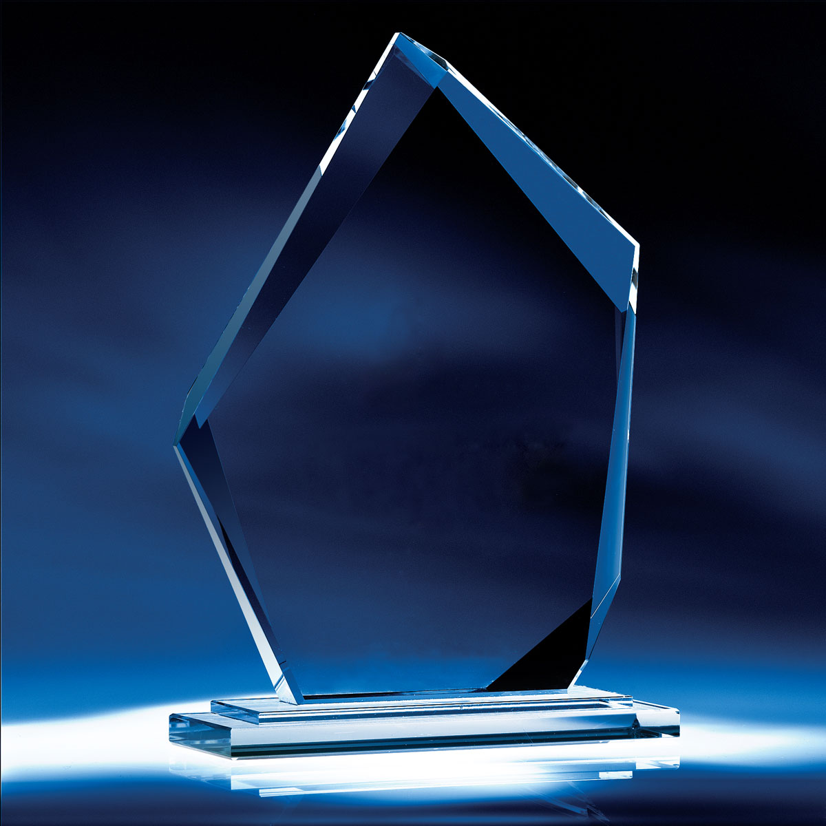 "Crystal Blanc, Personalize! 10"" Crystal Summit Award"