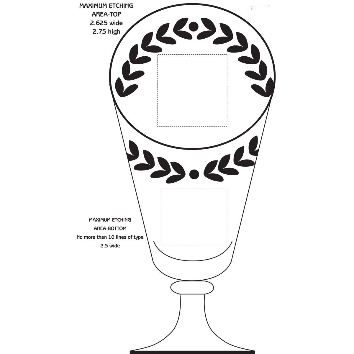 "Crystal Blanc, Personalize! 13.5"" Laurel Cup"