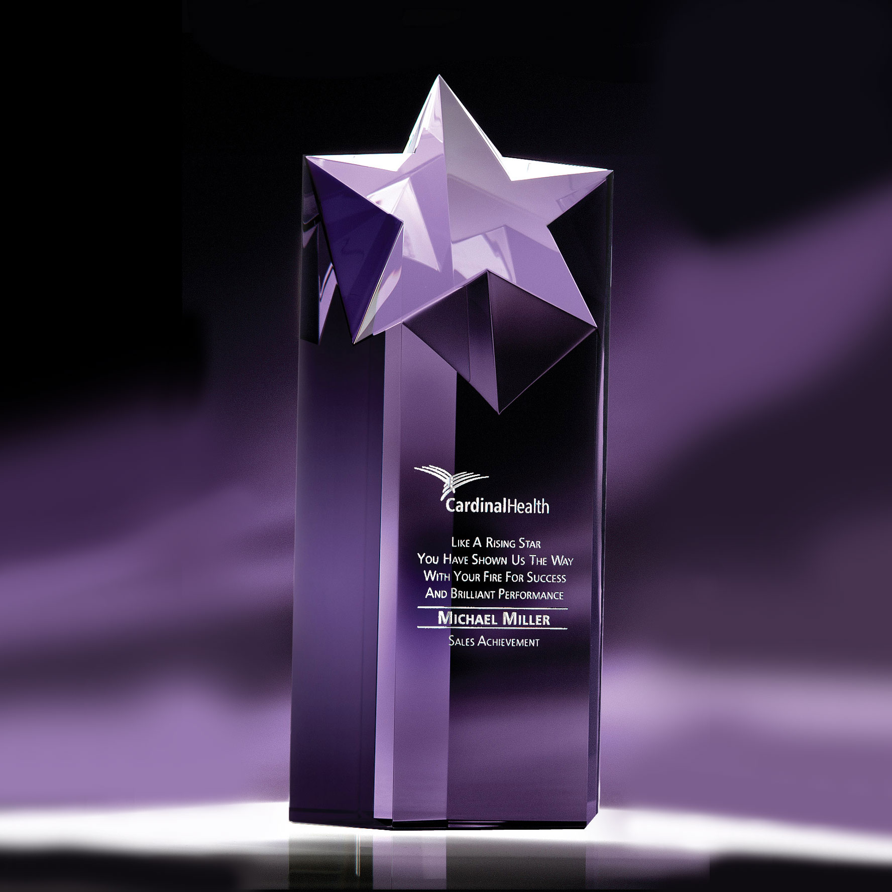 """Crystal Blanc, Personalize! Optic Rising Star, Large 10"""""""