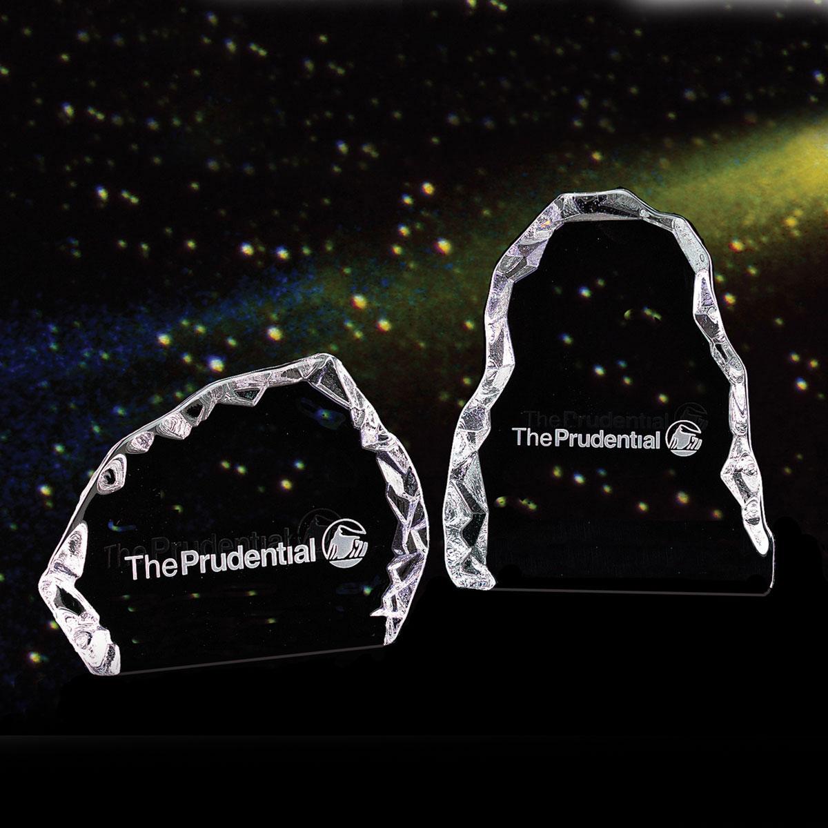 "Crystal Blanc, Personalize! 7"" Glacier Award--Vertical Orientation"