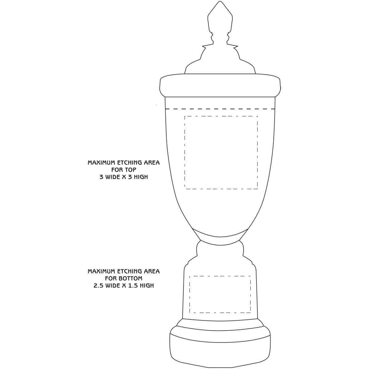 "Crystal Blanc, Personalize! 14.5"" Crescendo Cup"