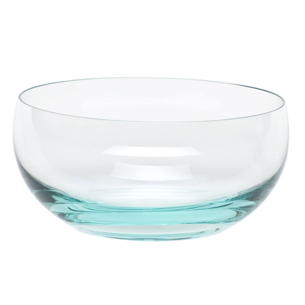 Moser Crystal Culbuto Bowl, Beryl