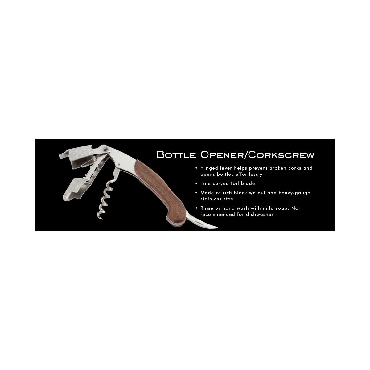Crafthouse by Fortessa Professional Barware, Multi Opener Corkscrew