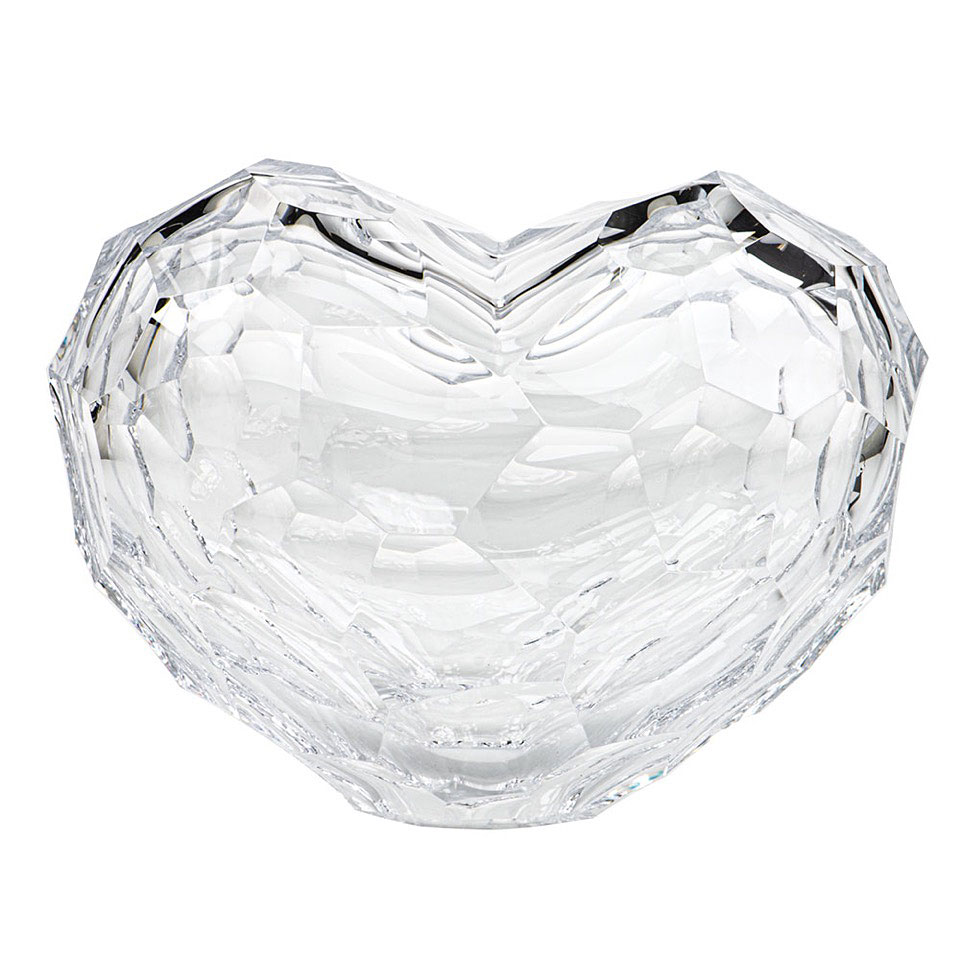 Moser Heart Large Sculpture Clear