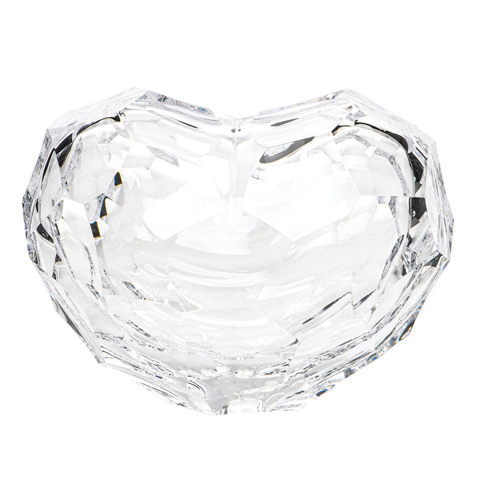 Moser Heart Sculpture Clear