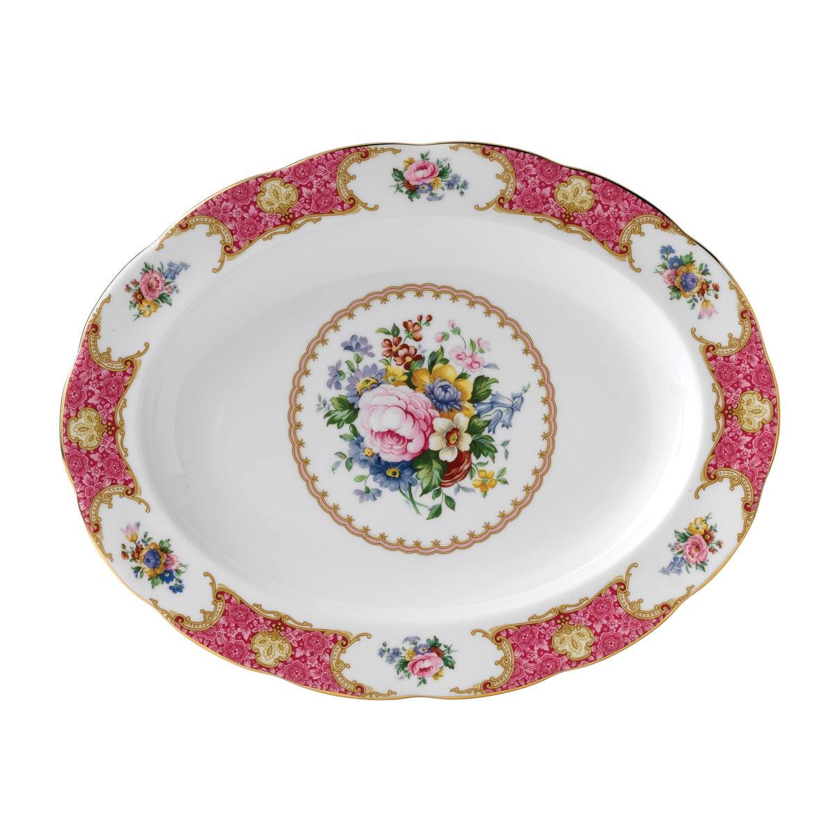 "Royal Albert Lady Carlyle Oval Platter 13"""