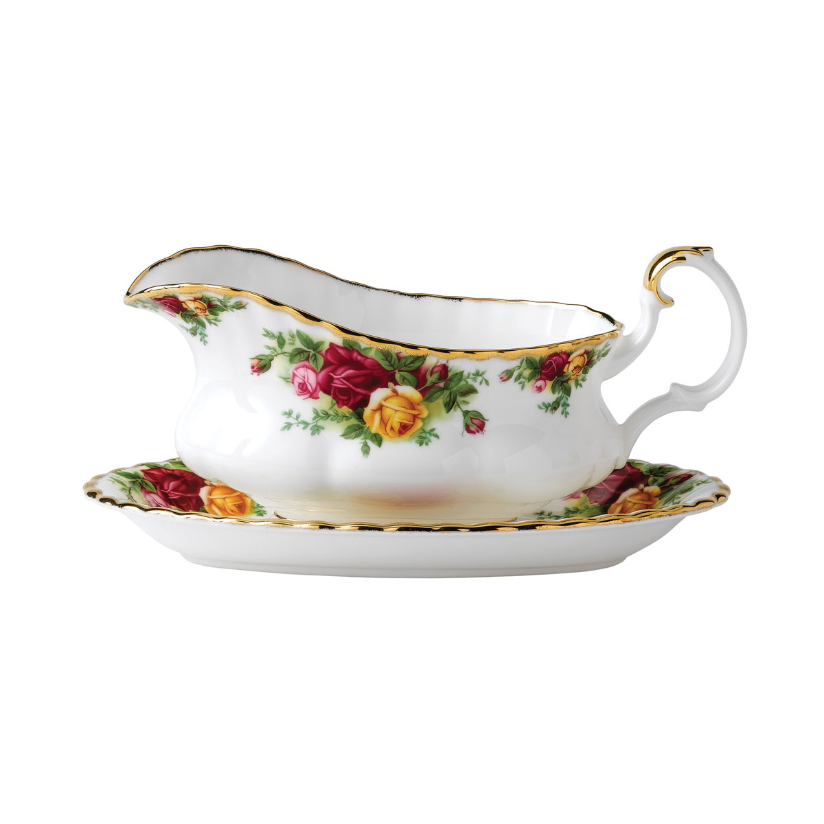 """Royal Albert Old Country Roses Gravy Stand 6"""""""