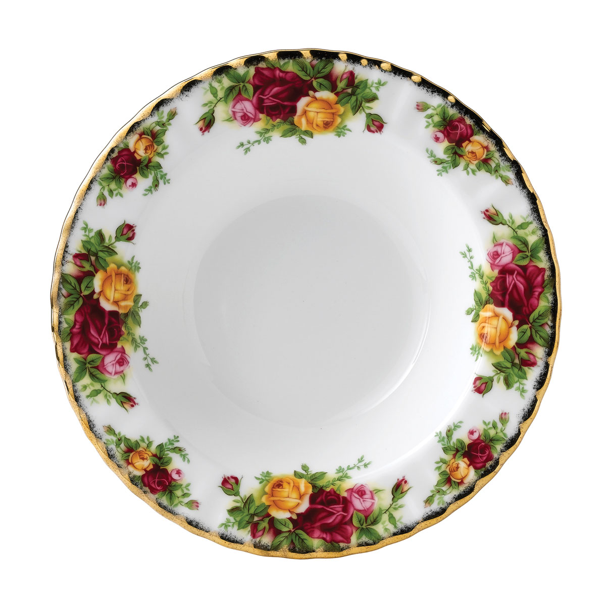 """Royal Albert Old Country Roses Rim Soup 8"""""""