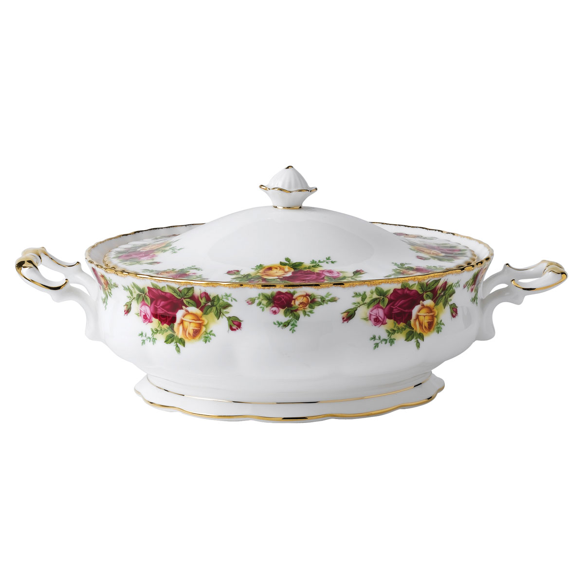 Royal Albert Old Country Roses Covered Vegetable Bowl