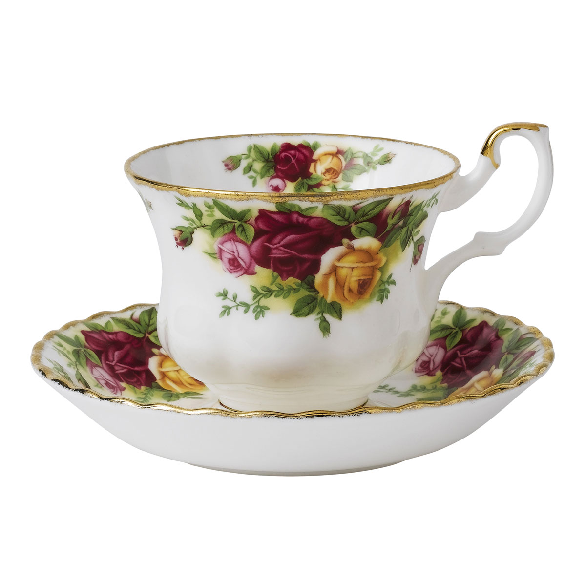 Royal Albert China Old Country Roses Teacup and Saucer Boxed Set