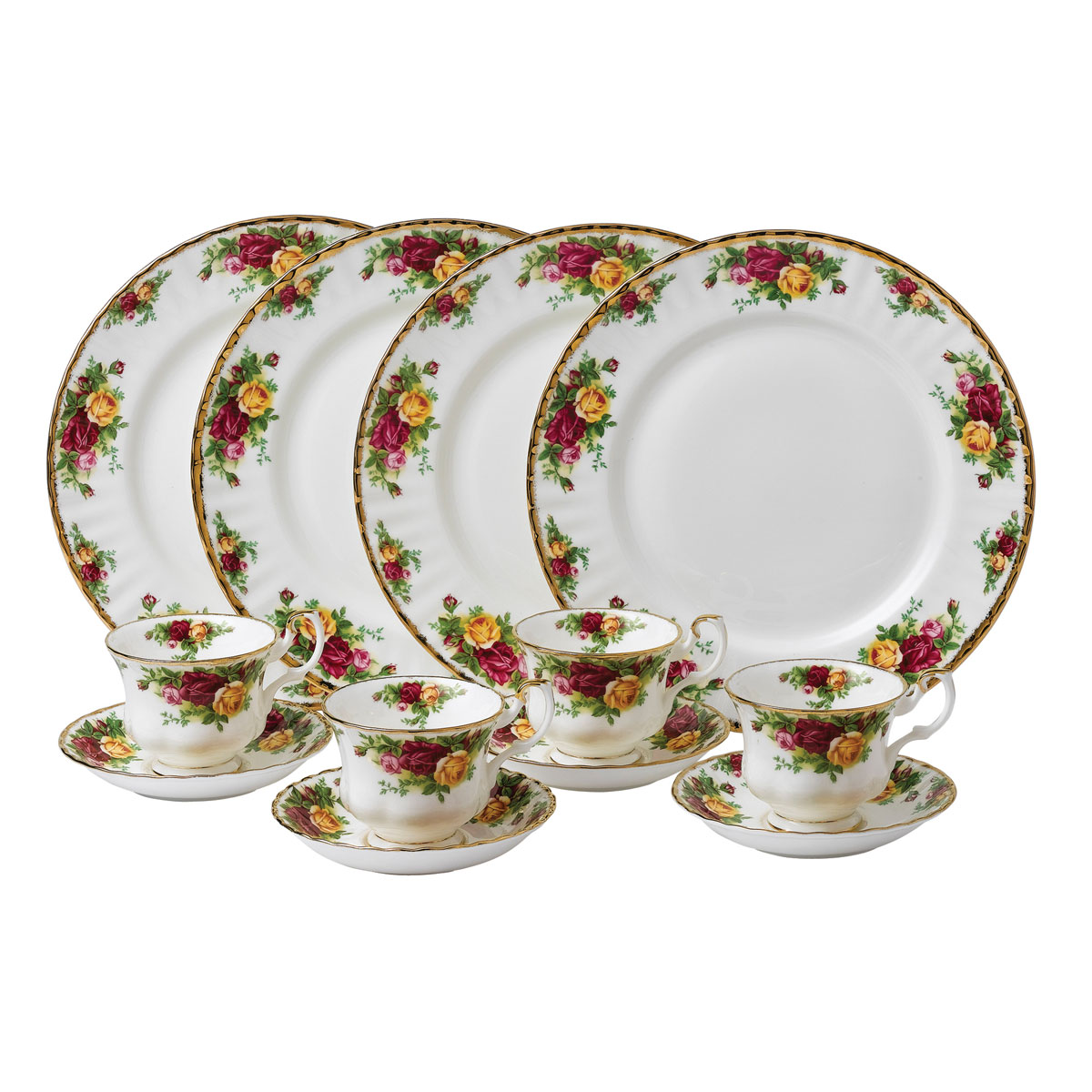 Royal Albert China Old Country Roses 12-Piece Set