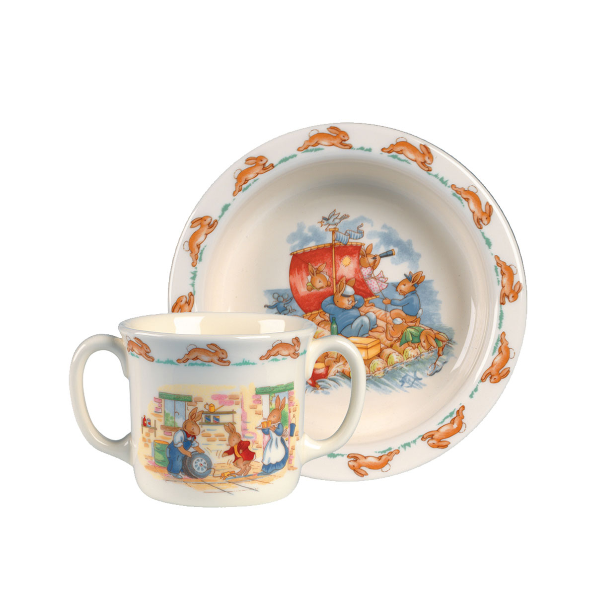 Royal Doulton China Bunnykins Baby 2-Piece Set