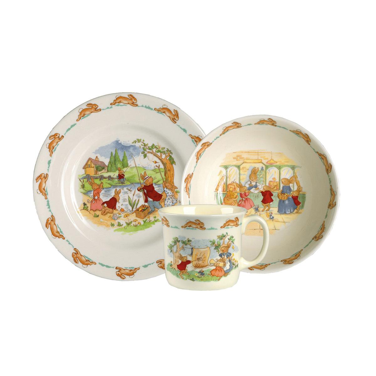 Royal Doulton China Bunnykins Baby 3-Piece Set