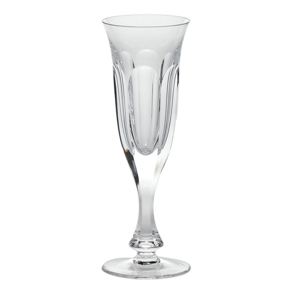 Moser Crystal Lady Hamilton Clear Champagne Flute, Single
