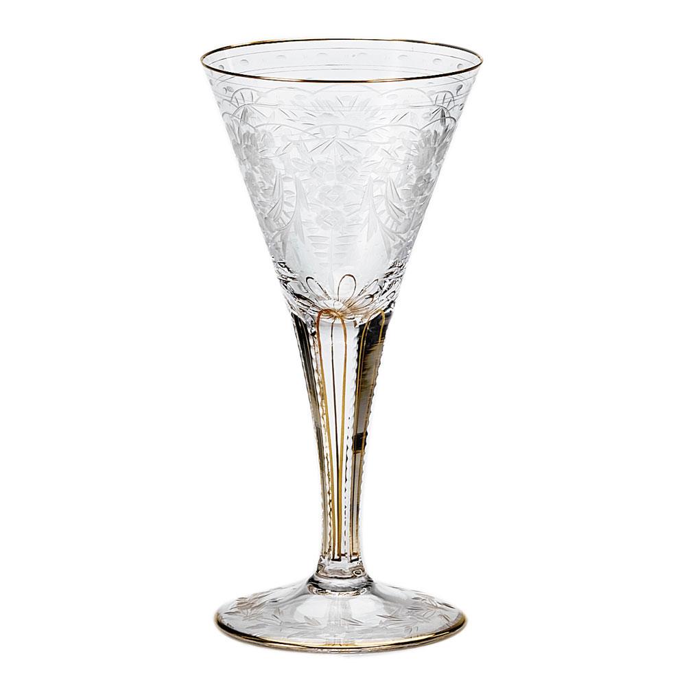 Moser Crystal Maharani White Wine Glass, Single
