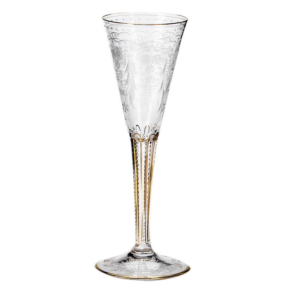 Moser Crystal Maharani Champagne Flute , Single