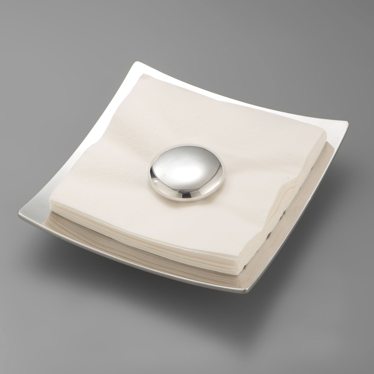 Nambe Metal Stone Napkin Holder