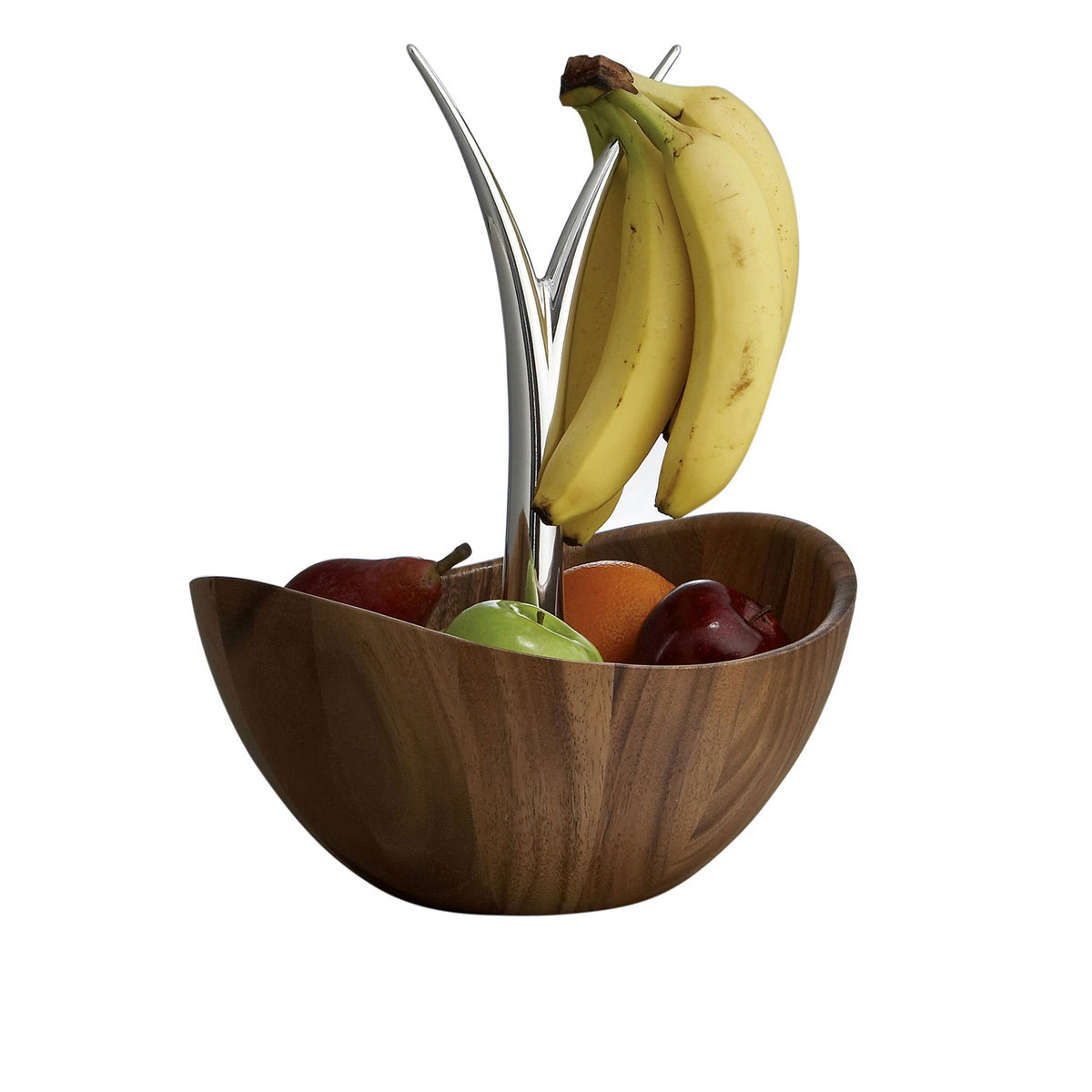Nambe Metal and Wood Gourmet Fruit Tree Bowl