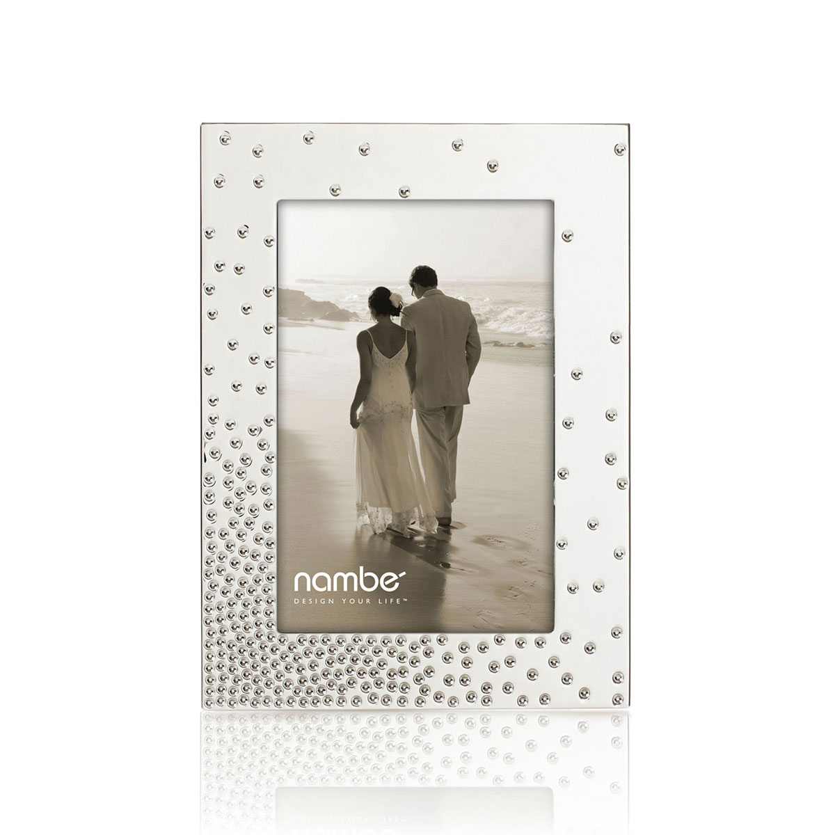 """Nambe Metal Dazzle 5x7"""" Picture Frame"""