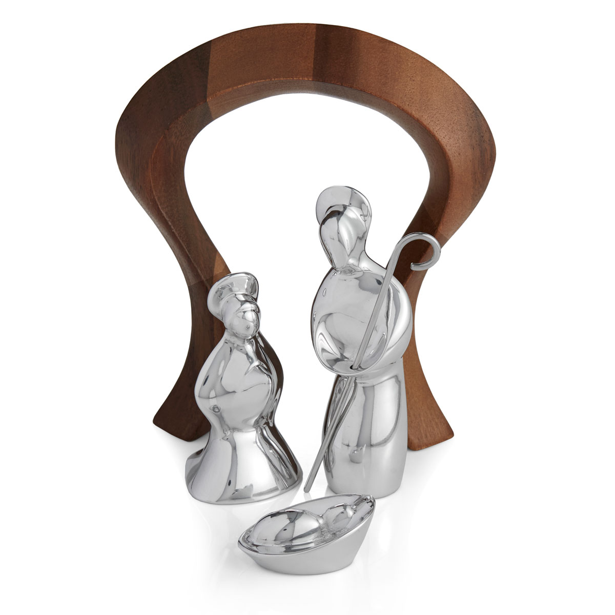 Nambe Miniature Nativity Holy Family, 4 Piece Set