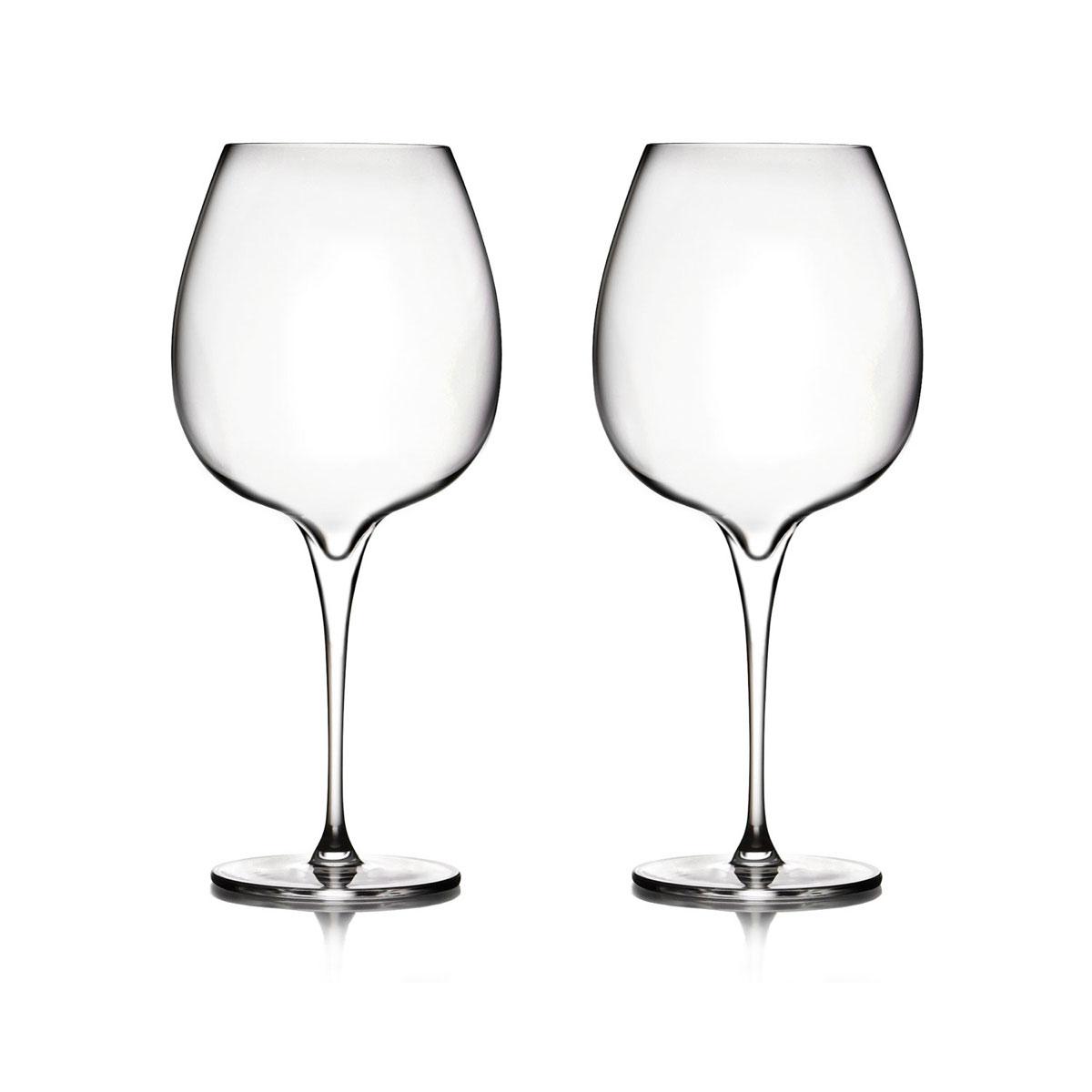 Nambe Vie Pinot Noir Wine Glasses, Pair
