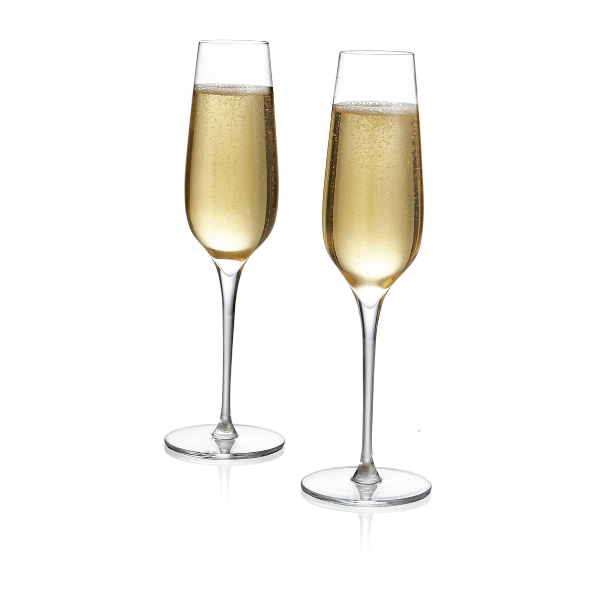 Nambe Vie Crystal Champagne Toasting Crystal Flute, Pair