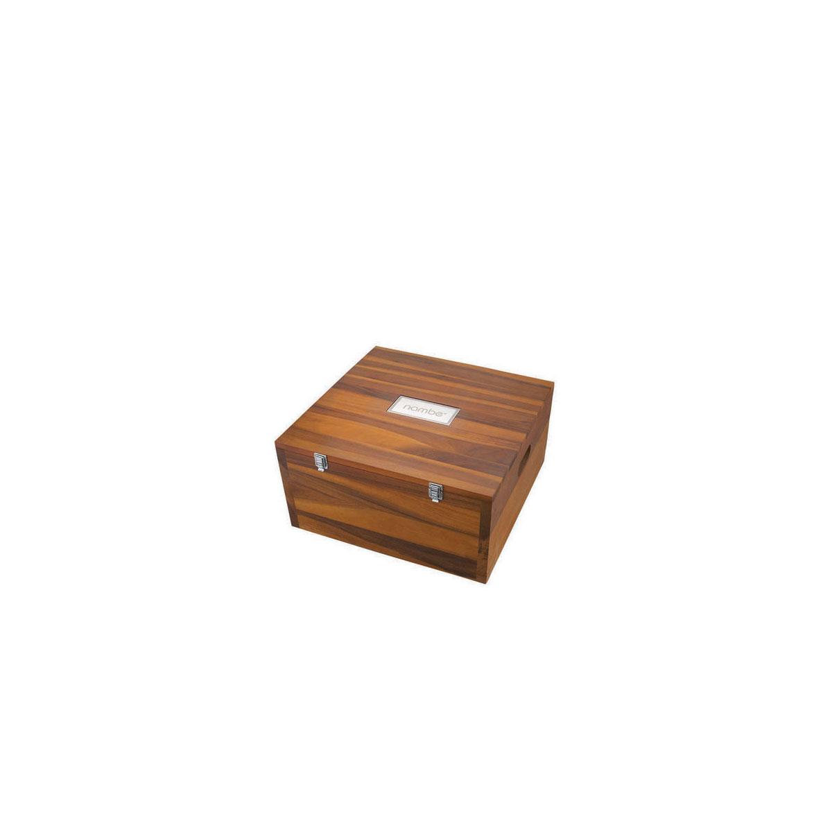 Nambe Wood Miniature Nativity Storage Box