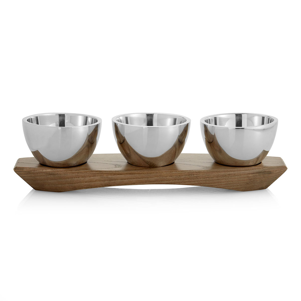 Nambe Wood and Metal Cabo Condiment Server