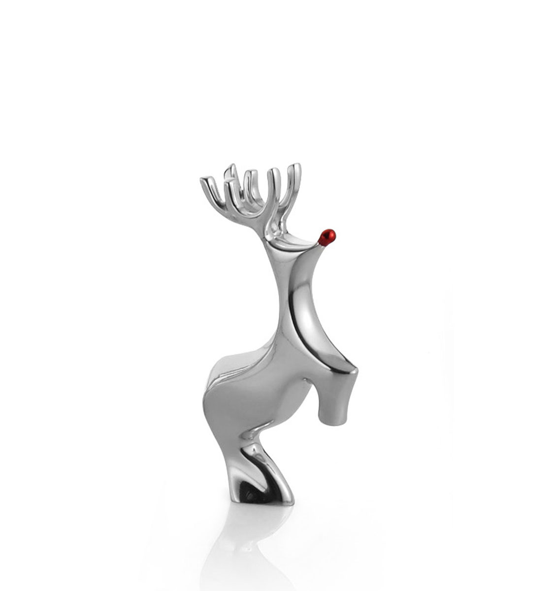 Nambe Metal Mini Red Nosed Reindeer