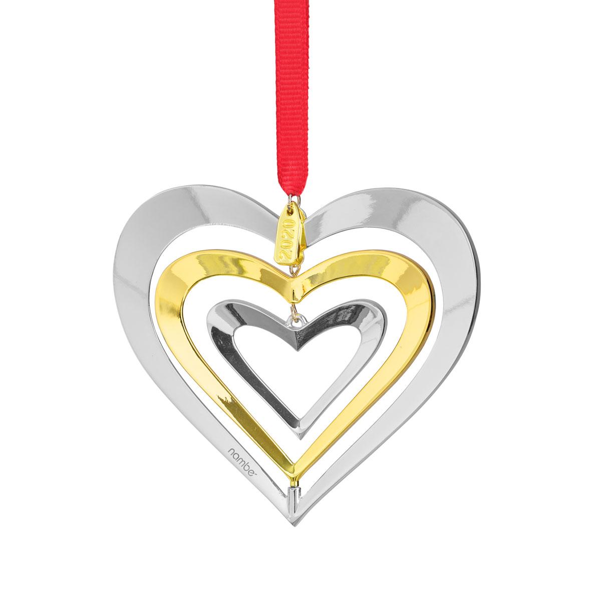 Nambe Heart Annual Ornament 2020