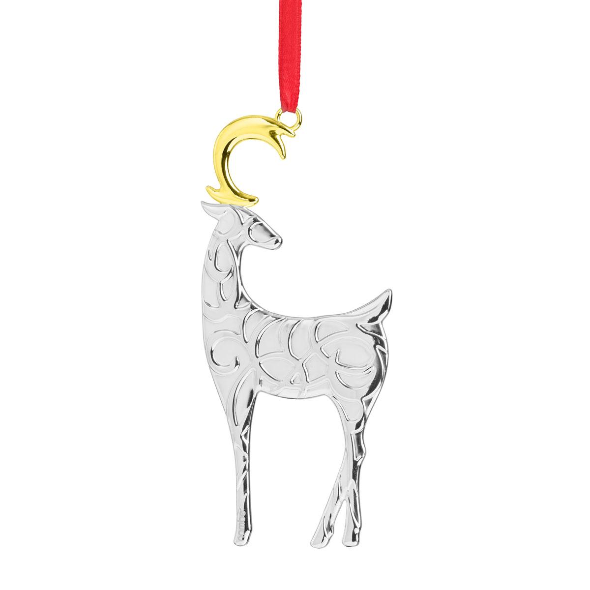 Nambe 2020 Filigree Reindeer Ornament