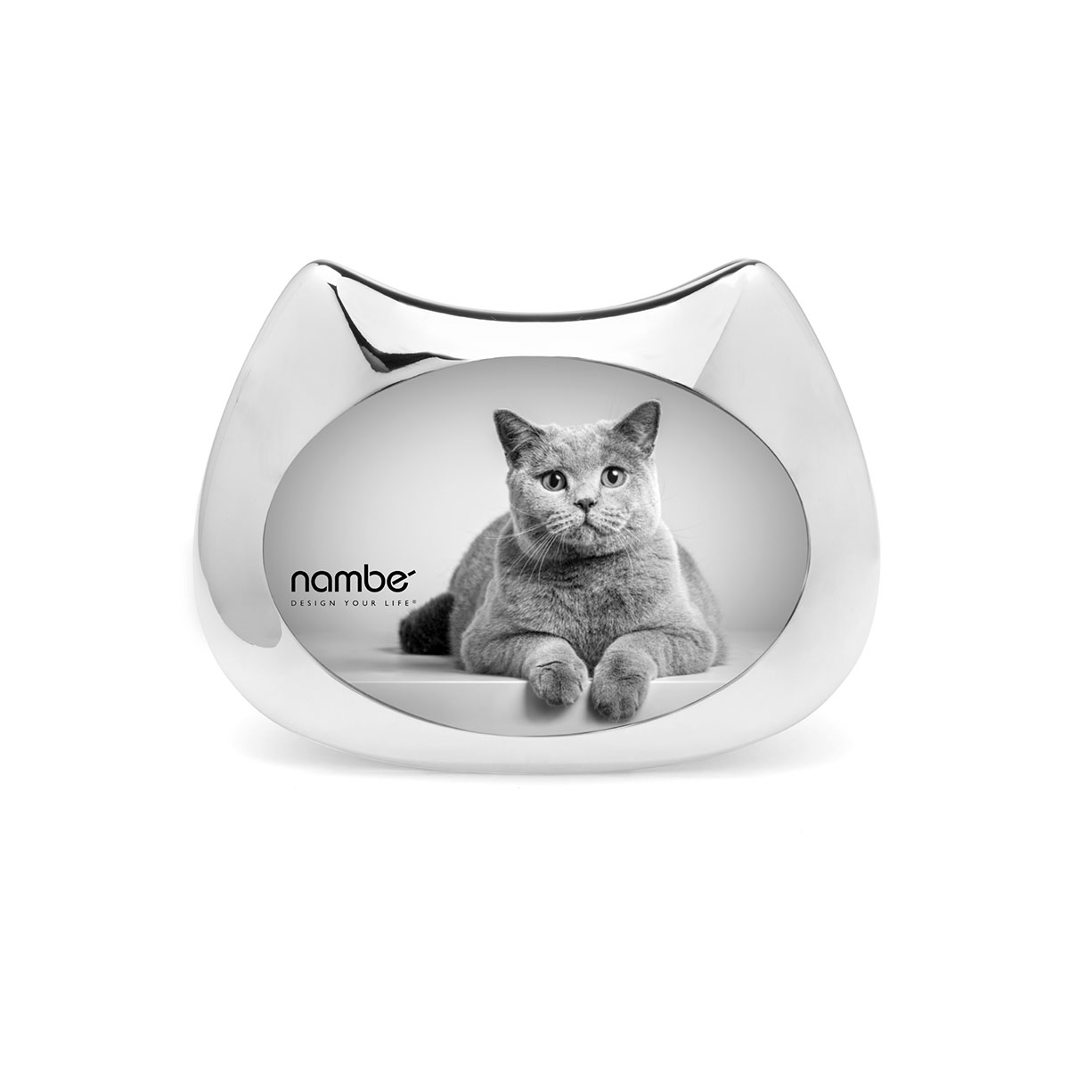 Nambe Pet Collection Cat Picture Frame