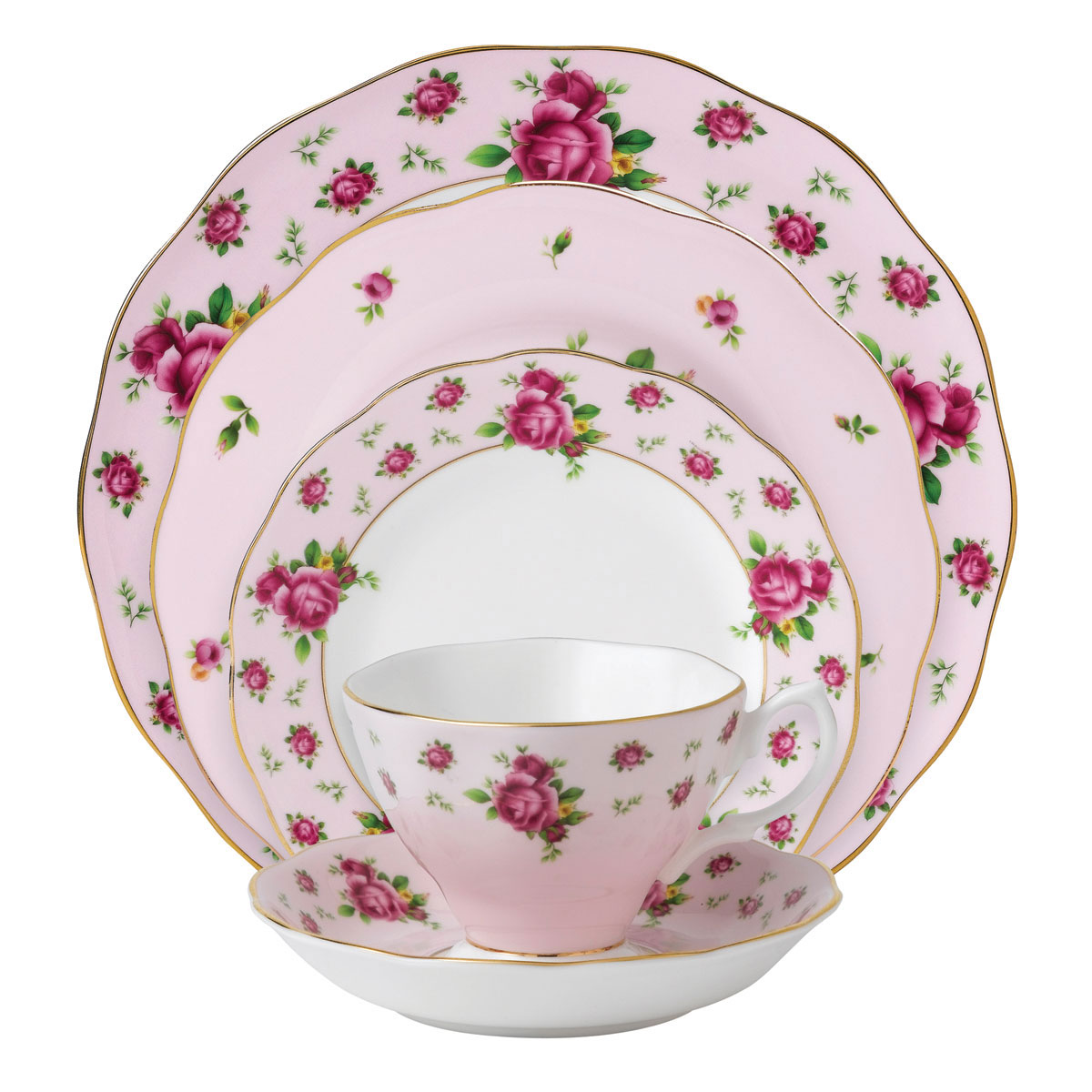 Royal Albert New Country Roses Pink 5-Piece Place Setting