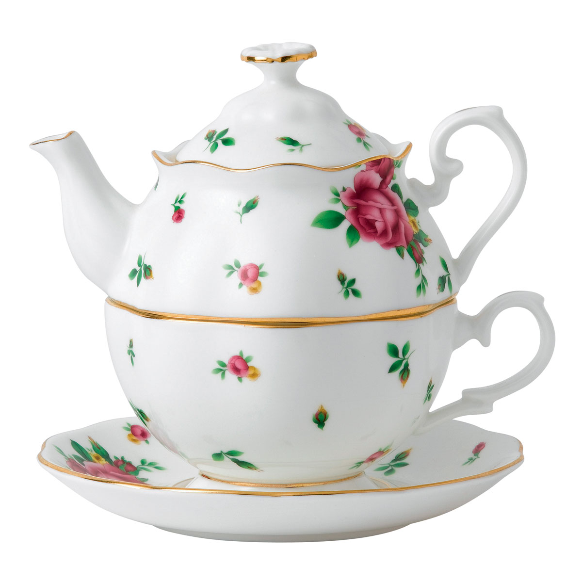 Royal Albert China New Country Roses White Tea For One