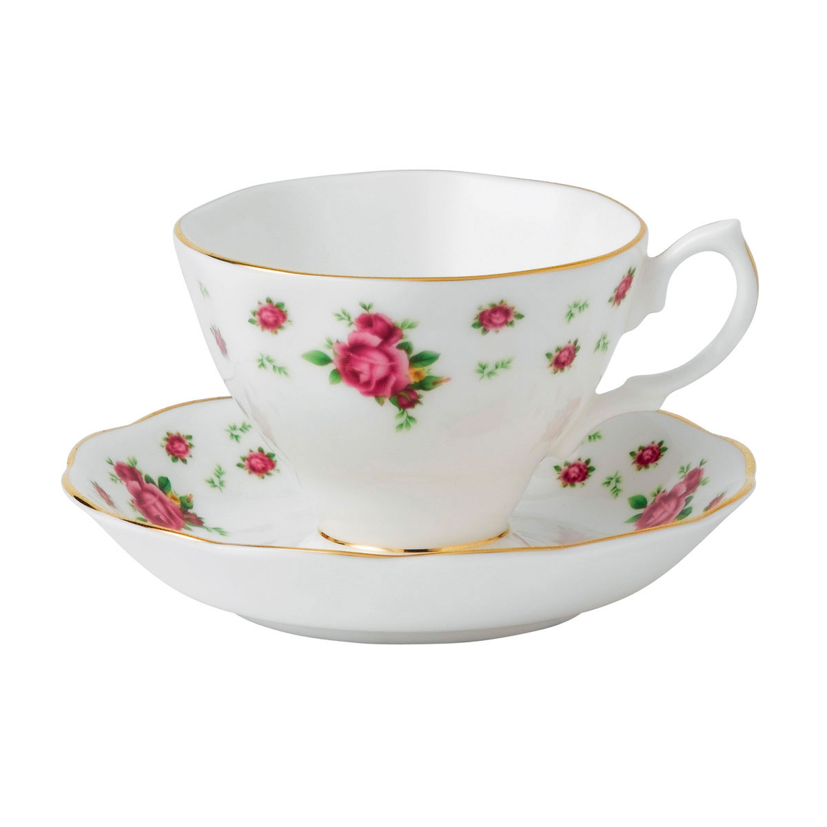 Royal Albert New Country Roses White Teacup and Saucer Set