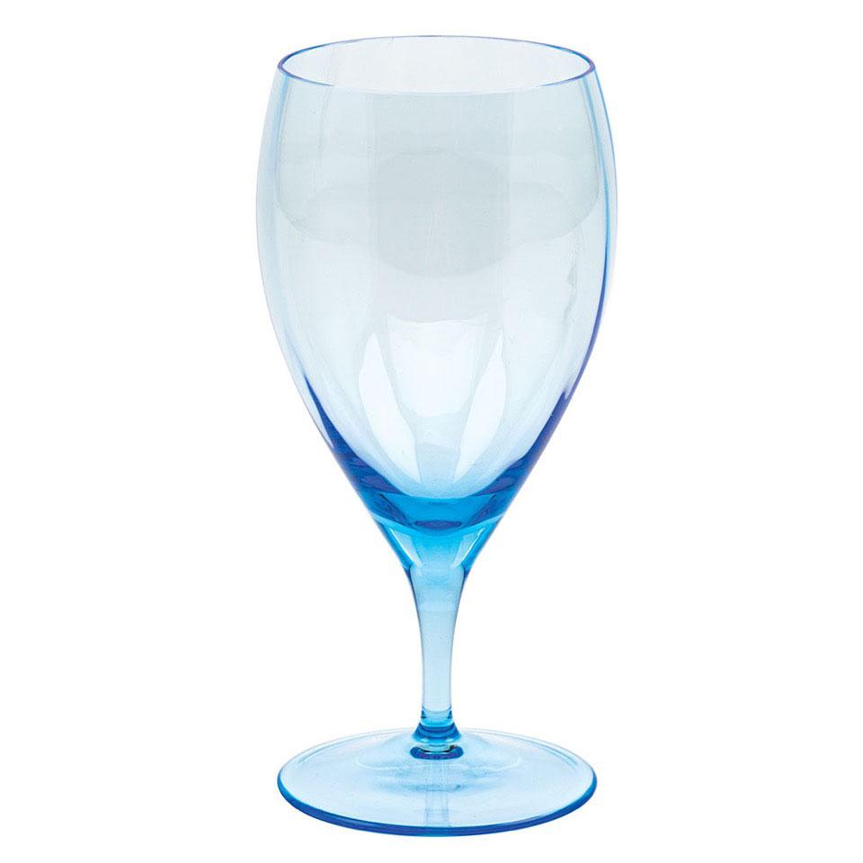 Moser Optic White Wine Aquamarine, Single