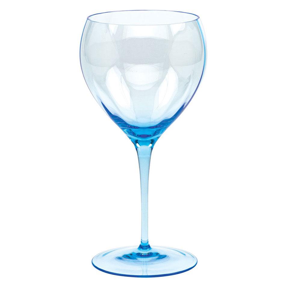 Moser Optic Red Wine Aquamarine, Single
