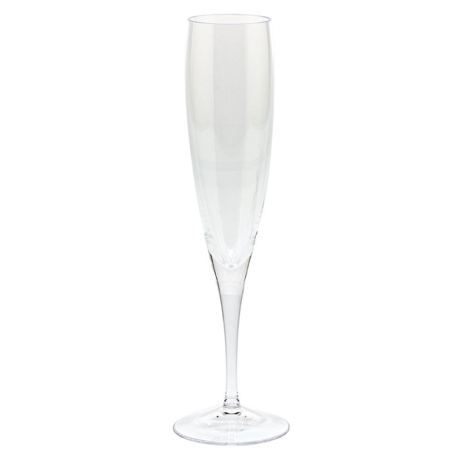 Moser Optic Champagne Flute Clear, Single