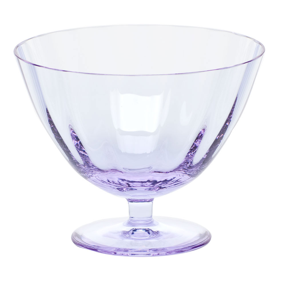 "Moser Crystal Optic Footed Bowl 5.1"" Alexandrite"