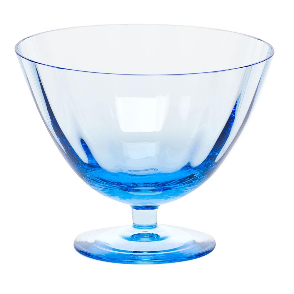 "Moser Crystal Optic Footed Bowl 5.1"" Aquamarine"